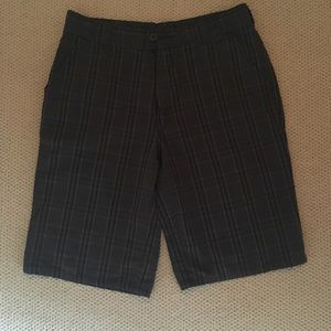 Men's grey/black plaid shorts